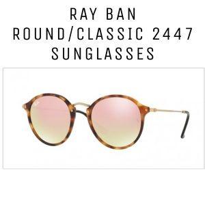 Ray-Ban 2447 Round/Classics Tortoise Sunglasses